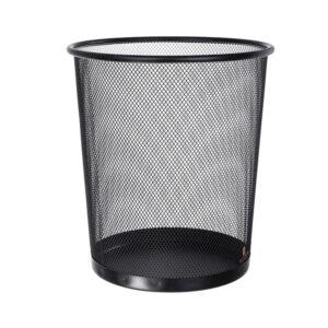 Lixeira Cesto Lixo Redondo Escritório Aço Telado 12 Litros